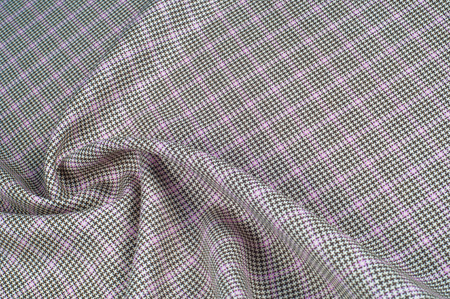 Background texture, pattern. cotton cloth, checkered pattern and is distinguished by white and colored, even-sized checks.This pattern is formed by horizontal and vertical stripes   Stock Photo