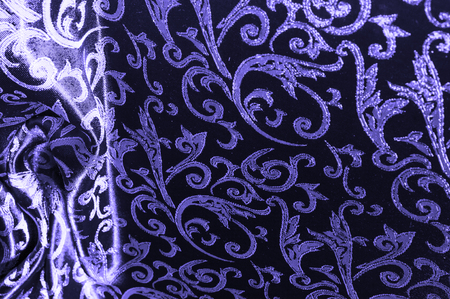 silk fabric Royal monogram blue Blooming with luxury this Royal Blue Damask Velvet with All-over Royal Gold Foil is an excellent addition to any design Ultra soft velvet pierces the golden background Stok Fotoğraf