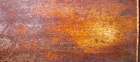 Texture of rusty iron. Background and texture of rusty on iron with vintage color and vintage style. Texture of rusty with drip on steel wall background