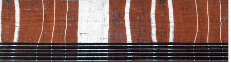 Cotton fabric texture. Brown black white stripe pattern fabric