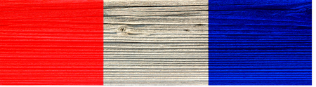 The texture of old wood (board). flag of France.  old wood background. old, grunge wood panels used as background