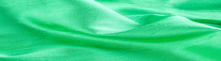 green fabric texture. Useful for background Stock Photo