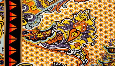 fabric silk texture. Byzantine silk is silk woven in the Byzantine Empire (Byzantium) Stok Fotoğraf