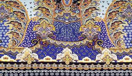 fabric silk texture. Byzantine silk is silk woven in the Byzantine Empire (Byzantium) 免版税图像