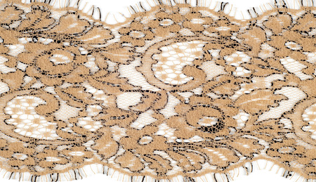 The texture of fabric lace.