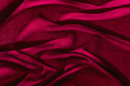 Texture, background, pattern. Red transparent fabric. Organza Silk Fabric Hand Dyed Madder Pale orange rust Red tangerine transparent natural plant