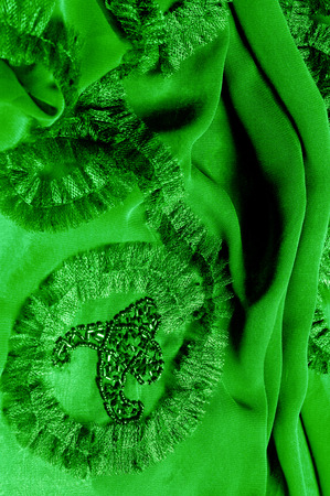 patterns. green. Clear, but supple, because it has a lighter weight, but an opaque cloth. this material has a variety of strata that make it an ideal choice for grand designs, and other relic items.