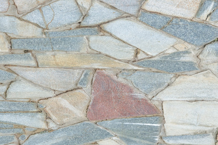 Texture, background, pattern. Mosaic pavement is laid out and cement blocks