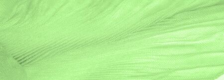 Texture, background, pattern, green silk corrugation crushed fabric for your projects Reklamní fotografie