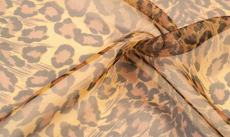 texture, silk fabric, leopard leather, brown-yellow black tones, hot African safari, this romantic fabric for your projects, old, feminine, pattern, color collection, Natural Fashion,