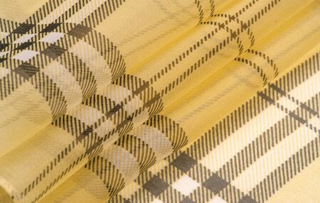 silk fabric champagne (pale fawn) Tartan checkered wallpaper patterns. Scottish checkered dress. Textile pattern of classic fabrics. Fabric textile pattern illustration.