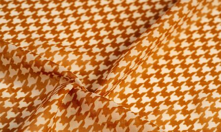 Texture, background, pattern, silk fabric, brown on a white background. pattern on ala fabric of famous french modeler.