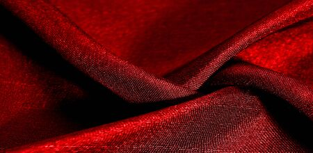 Texture, background, pattern, red color, fabric. Фото со стока