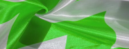 Texture, background, pattern, silk green and white crepe breath. Banco de Imagens