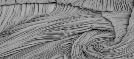 Texture, background, pattern, Cloth Pleated Gray Black.