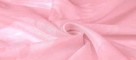 Texture, background, pattern, silk fabric, pink.