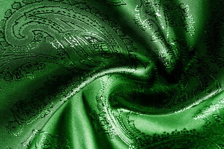 texture, background, green, verdant, lawny, vealy, virid, blushful fabric with a paisley pattern. Banco de Imagens