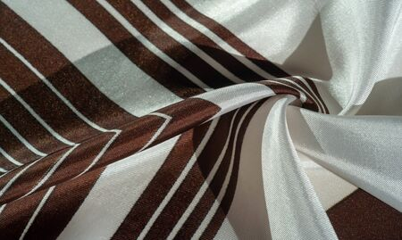 texture, background, silk fabric with a striped pattern 写真素材