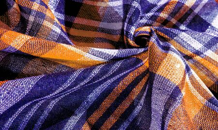 Texture, background, pattern, winter warm soft scarf for your projects blue and white yellow blanket, with this fabric you will be comfortable, warm, your design will be imposed on your home