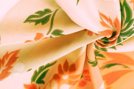 texture, background, pattern, delicate silk with floral print Exceptionally lightweight pure silk fabric with a delicate texture. Clean, use lining when opacity is desired.