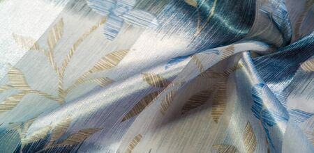 texture, pattern, background. This beautiful fabric is decorated with metallic silver lurex with an abstract pattern, which creates a great visual interest. Ideal for adding elegance to your designs