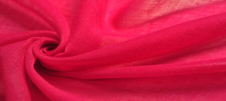 Texture silk fabric, red hollywood cerise THE BEST IDEAS FOR your projects: elegant and luxurious. There is no need for any special design. Mothers Day wedding anniversary Thanksgiving and more Stock Photo