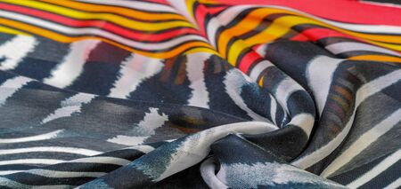 TeTexture pattern, silk fabric, African themes, printing on fabric, cheerful pattern will decorate the project. dichotomous nature of the theme of freedom, heaven, hell, exotic banality, dream reality