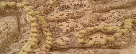 Texture, background, pattern, beige silk, feminine, corrugated New style hijab scarf maxi shawl big shawl with Muslim ruffles Stock Photo