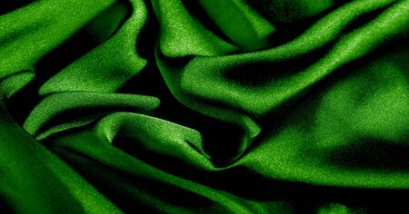 Background, pattern, texture, wallpaper, green silk fabric. Add a touch of luxury to any design by adding it to this ultra-soft and very lightweight polyester lining fabric. Imagens