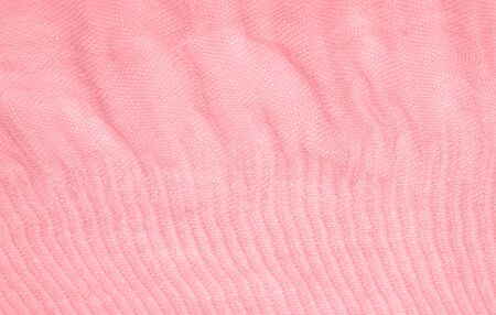Texture, background, pattern, pink silk corrugated crushed fabric for your projects Stockfoto