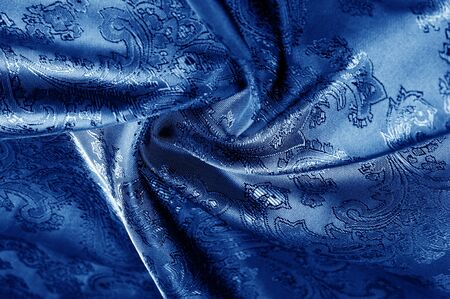 texture, background, dark blue, navy blue, sapphirine,  blushful fabric with a paisley pattern. based on traditional Asian elements