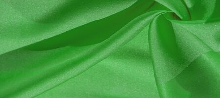 Silk fabric, forest green. The photo is intended for, interior, imitation, fashion designer, marketing, architecture, sketch, layout, entourage Stockfoto - 131276269