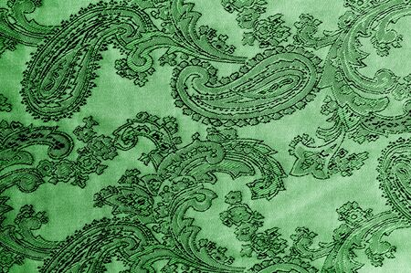 texture, background, green, verdant, lawny, vealy, virid, blushful fabric with a paisley pattern. based on traditional Asian elements