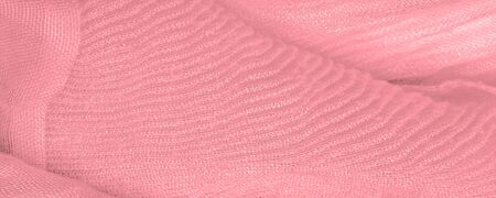 Texture, background, pattern, pink silk corrugated crushed fabric for your projects Imagens