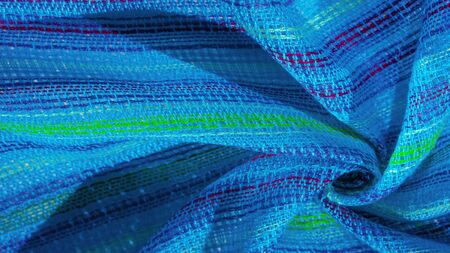 texture, background, pattern, postcard, fabric blue turquoise striped red-blue green lines, Brand: Very light elastic knit, light sheen, Translucent: suitable for your projects,