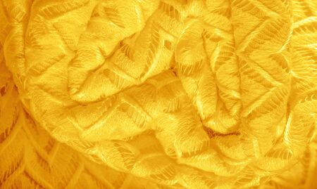 Texture, background, pattern, silk fabric, yellow, layered lace tulle, premium plain winter diamond knitted scarf in the form of infinity loops