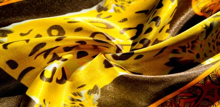 texture, pattern, background. leopard silk fabric. Screen printing on silk duck; This is a template for your accents. Create projects, wallpapers, postcards and more. Colors include brown and brown