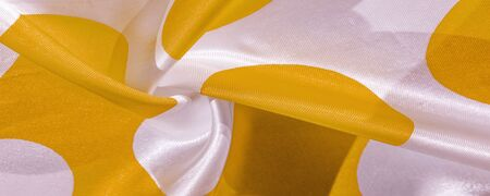 Texture, background, pattern, postcard, silk fabric, yellow sunglow white ovals, your projects will not go unnoticed with this fabric, buying this weave will awake the best