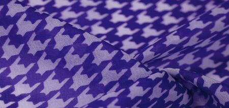 Texture, background, pattern, silk fabric, brights blue on a white background. pattern on ala fabrics famous french fashion designer. projects will fulfill your desires you are known Imagens