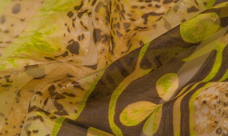 silk fabric, female thin scarf, exquisite design. The photo is intended for, interior, imitation, fashion designer, marketing, architecture, sketch, layout, entourage, decorator, accessory, style 写真素材