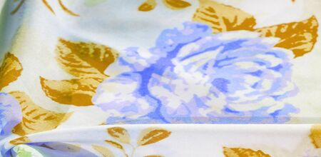 texture pattern cotton fabric. Flowers roses on a white background. It is very versatile and ideal for processing designs, projects, wallpapers, accent your projects with this fabric will be the best