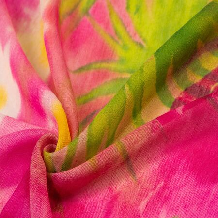 Texture, pattern, collection, silk fabric, dark pink Hollywood cerise, white abstract flowers, upscale dusty pink French tulle, this is what you need for design