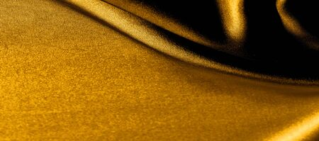 texture, background, pattern. golden yellow silk fabric panoramic photo. This is sunny carolina. This is a smooth hand that creates a subtle sheen. Made with luxurious silk, like beauty!