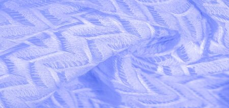 Texture, background, pattern, silk fabric blue, layered lace tulle, premium plain winter diamond knitted scarf in the form of infinity loops