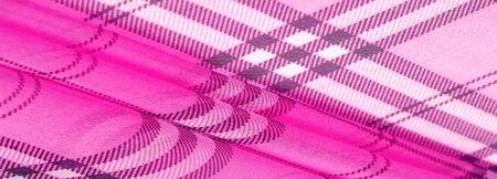 silk, cloth pink (carnation), checkered wallpaper in a cage tartan. Scottish tartan dress. Textile pattern from classic fabrics. Fabric textile pattern illustration.