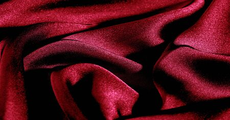 Background, pattern, texture, wallpaper, red silk fabric. Add a touch of luxury to any design by adding it to this ultra-soft and very lightweight polyester lining fabric.