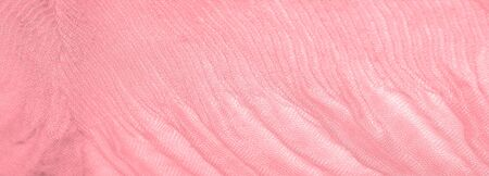 Texture, background, pattern, pink silk corrugated crushed fabric for your projects Stok Fotoğraf