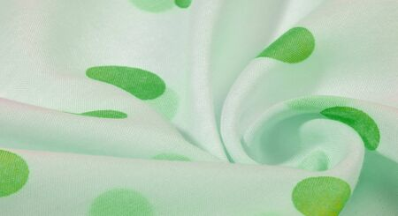 Texture Background, Green Polka Dots Patterned Silk Fabric  Create fun customization and design. Create designs, postcards, posters and linings. Don't forget the photo for your fun projects!