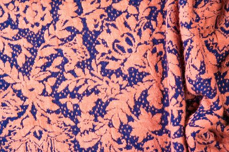Textured, background, pattern, Fabric wool, on a blue background of beige flowers. depicts a beautifully woven vegetative motif Jacobean. Colors: onyx. This is your design wallpaper