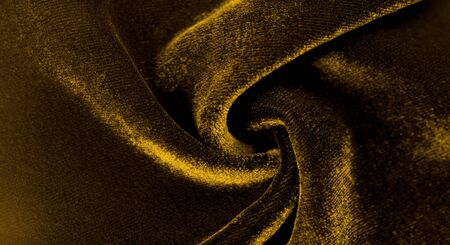 Texture background, pattern. Yellow Velveteen This magnificent elastic velor fabric has a velvet pile. Pan Pan adds shine and texture! It has a knitted back and is great for your design.